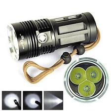 New Hohe Leistung 6000 LM 3T6 3x CREE XM-L T6 LED Taschenlampen-3 Modus-18650
