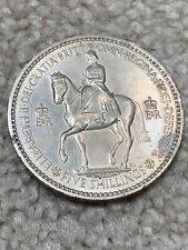1953 GREAT BRITAIN FIVE 5 SHILLINGS ONE CROWN ELIZABETH II CORONATION WORLD COIN
