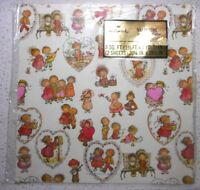 Hallmark Cards Vintage MARY HAMILTON Valentine Gift Wrap Wrapping Paper Sealed