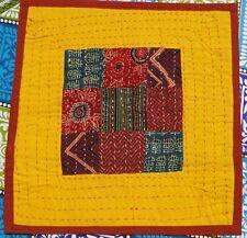 Housse de coussin Patchwork fait à la main Motifs indiens Coton Boho Ethnique