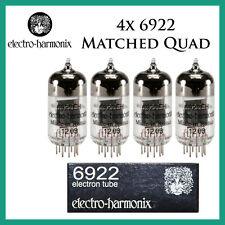 New 4x Electro Harmonix 6922 / E88CC / 6DJ8   Matched Quad / Quartet / Four   EH