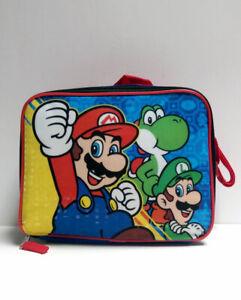 Super Mario Luigi Yoshi Insulated Lunch Box Bag Nintendo School Christmas B-Day
