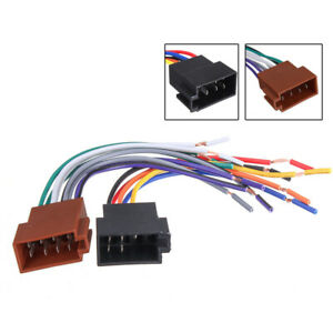 2X Car Stereo Female Socket Radio ISO Wire Harness Adapter Connector Universal P