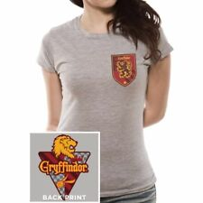 XL Grey Ladies Harry Potter House Gryffindor T-shirt - Womens Tshirt Fitted Top