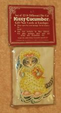 Kitty Cucumber  in yellow nightgown magnet ornament cat 1985 Merrimack