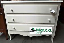 Dresser 11305 With 3 Drawers, White Matt cm107x52x89H
