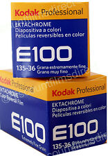 2 x Kodak Ektachrome E100 35mm 36exp Colour Slide Camera Film by 1st CLASS POST