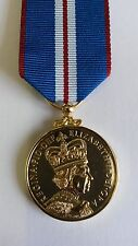"Full Size Queens Golden Jubilee Medal  2002 E""R"