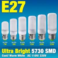 E27 E26 Bright 5730 LED Corn Bulb Lamp Cool/Warm Milky White Lights 25/15/9/7W