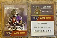 Lamar Jackson Baltimore Ravens 2018 Limited Edition Rookie Card. HOT