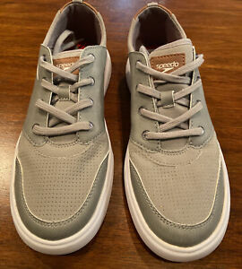 SPEEDO TILLER MEN's WATER BOAT SAILING DECK SHOES SMALL 7-8 LACEUP GRAY NWT