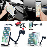 Universal 360°Car Mount Windshield Dash Holder Cradle Fr Mobile Phone Tablet GPS
