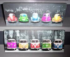 Lot 2 Tableau toile décoration pop art Volkswagen coccinelle combi new beetle
