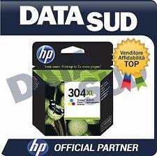 CARTUCCIA HP 304 XL ORIGINALE TRI-COLORE INK-JET PER HP Deskjet 3720, 3730, 3732
