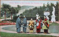 San Francisco, CA 1910 Postcard: Chinese Women in Sutro Heights-China/California