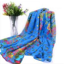 Womens Long Fashion Neck Scarf Soft Chiffon Voile Wrap Shawl Hijab Scarves Stole