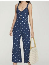 Faithfull The Brand Women's Jumpsuit polka dot ruffle Cancun size xs /2