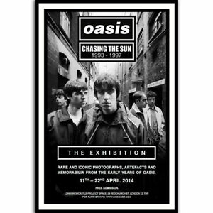 H235 Oasis Music Live Art Silk Poster Print