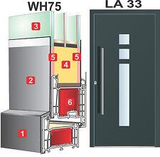 Haustür Welthaus Türen  WH75 LA33 Aluminium mit Kunststoff Tür Model  Haustüren