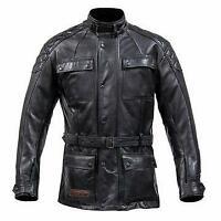 Spada Berliner Motorcycle Motorbike roadbike Jacket Leather Black CE Approved