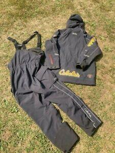 CABELAS GUIDEWEAR Fishing PRO TEAM Gore-Tex Rain Suit JACKET & BIBS Raingear LG