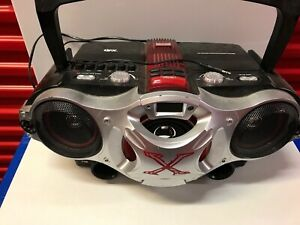 QFX Portable CD Cassette Player Jumbo Boombox Speaker System