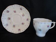 VINTAGE ROSLYN FINE BONE CHINA CUP & SAUCER - GOLD TRIM - NEW - FREE SHIPPING