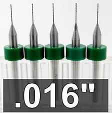 ".016"" 0.40mm 1/64"" Carbide Drill Bits - FIVE pieces #78 cnc model R/S .250 LOC"
