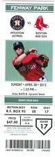 2013 Red Sox vs Astros Ticket: John Lackey wins/Stephen Drew hit two-run triple