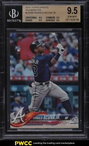 2018 Topps Update Rainbow Foil Ronald Acuna Jr. ROOKIE #US250 BGS 9.5 GEM MINT