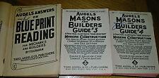 Audel VINTAGE Mason & Builder Books  1940's  Lot of 3