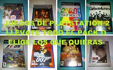 JUEGOS DE PLAYSTATION 2 (TODO EL LOTE O DE FORMA INDIVIDUAL)