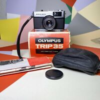 BOXED OLYMPUS Trip 35 Camera & Case Guaranteed Retro,Lomo,Vintage, Film Tested!