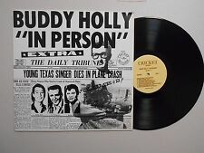 Buddy Holly ROCK-A-BILLY/BROADCAST LP (CRICKET CO 02000) In Person NM