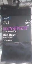 M & S Body Sensor Tights Navy Mix 2 Layer 60 Denier Small, Med, Large, X/Large
