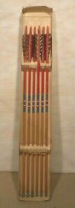 Vintage Locksley By Ben Pearson Wooden Arrows With Original Box Six Arrows