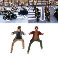 1:64 S Scale Painted Miniature Motorcycle Small People Figurines Building Decor