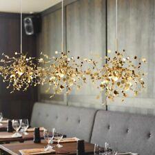 Art Stainless Steel Leaf Chandelier Creative Flower Lighting Shop Window Bar