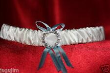 NEU!!!Sexy Strumpfband Hochzeit Braut CREME BLAU ba9377-creme