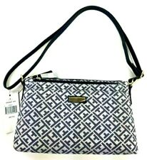 Tommy Hilfiger TH Monogram Jacquard Crossbody with Pouch Set Blue Silver NWT $75