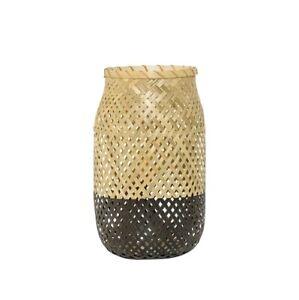 Bambus-Laterne H30 cm, mattschwarz von Bloomingville