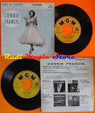 LP 45 7'' CONNIE FRANCIS Among my souvenir Valentino france MGM EPF 69 cd mc dvd