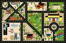 City Center Road Area Rug 5x7 for Children Great for Kids Room, Daycare, School