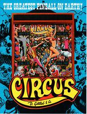 CIRCUS Original PINBALL Flyer GOTTLIEB 1980 Promo Brochure Ad Slick
