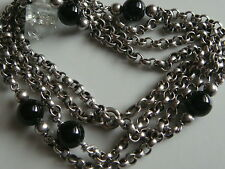 Cadena de Plata Collar con ónix Piedras Preciosas 835 Joyería