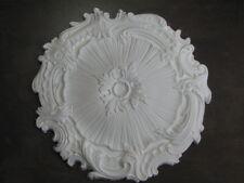 Rosone polistirolo diametro cm 41 bianco polisterolo punto luce decoro soffitta