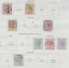 8 Sierra Leone Stamps from 19th Century Brown Scott Album 1872-1896