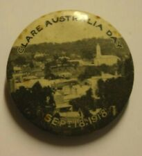 Australia Day Wwi (Sept, 1918), Sepia Pin Back, Button Badge, Clear, Excellent