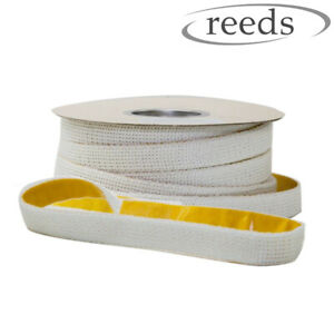 Flat Stove Rope Self Adhesive White Rope 25mm Wide