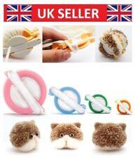 4 Sizes Pompom Maker Kit Fluff Ball Weaver Needle Knit Craft Bobble Tool DIY UK